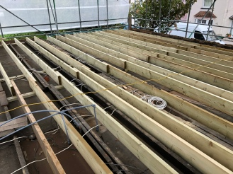 Joists nearly complete